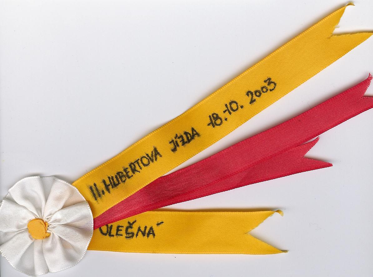 Hubertova jízda Olešná 18.října 2003.jpg